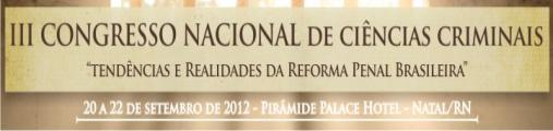 III Congresso Nacional de Ciências Criminais